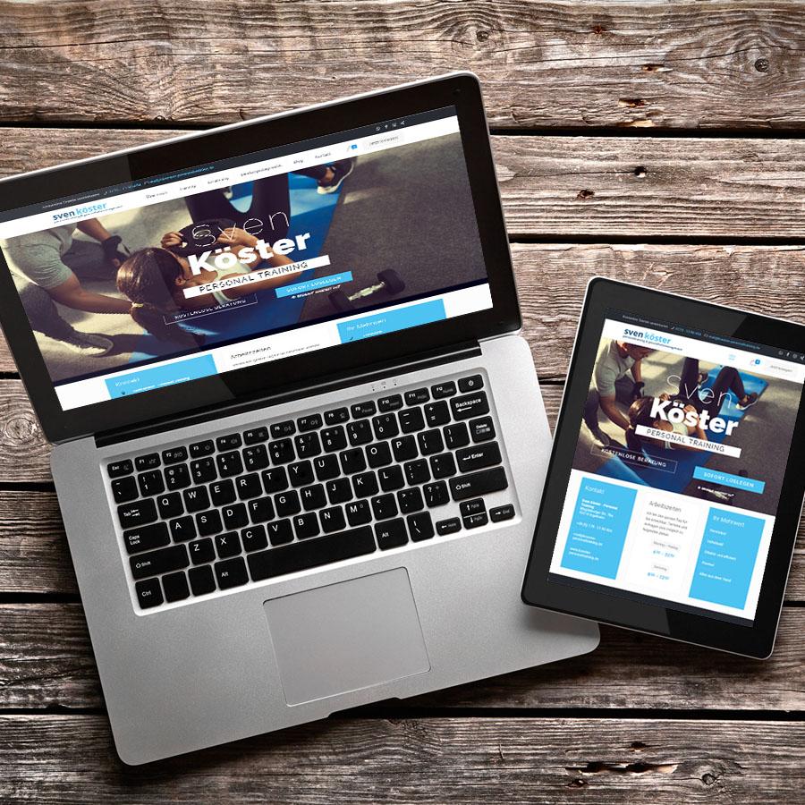 koester-personaltraining-website - Agentur Parrot