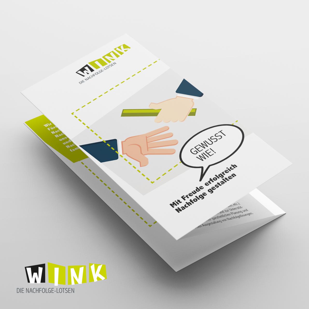Flyer Gestaltung für WINK e.V. von Agentur Parrot